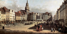 Bernardo Bellotto - Dresden, the Old Market from Castle Street