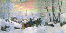 Boris Kustodiev - Arriving for Shrove-Tide, 1916