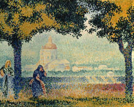 Henri Edmond Cross - The Church of Santa Maria degli Angely near Assisi