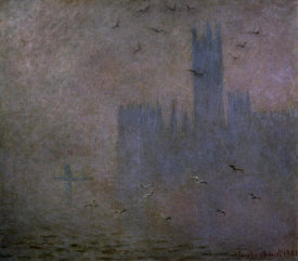 Claude Monet - Houses of Parliament, Seagulls, 1904