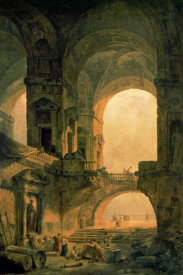Hubert Robert - Vaulted Arches Ruin