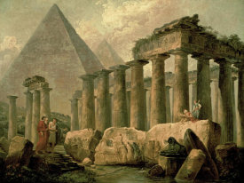 Hubert Robert - Pyramid and Temples
