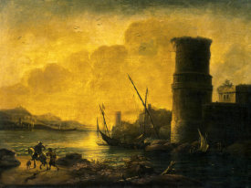 Salvator Rosa - Bay at Sunset, 1549