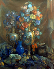 Nikolai Sapunov - Vases, Flowers, Fruits, 1912