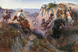 Charles M. Russell - The Wild Horse Hunters
