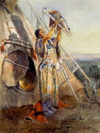 Charles M. Russell - Sun Worship in Montana
