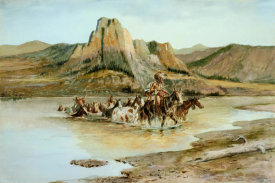 Charles M. Russell - Return of the Horse Thieves