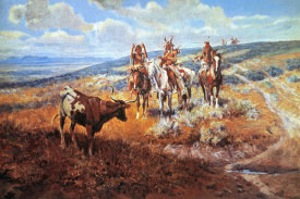 Charles M. Russell - White Man's Buffalo