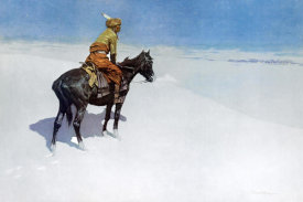 Frederic Remington - The Scout: Friends or Enemies?