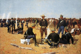 Frederic Remington - A Calvaryman's Breakfast On The Plains