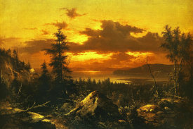 Albert Bierstadt - Sunset Glow