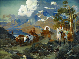 David Johnson - Emigrant Train at Donner Lake