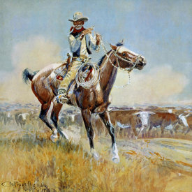 Charles M. Russell - Beef for the Fighters