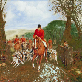 Henry Jr. Alken - A Hunt Going Through A Gate