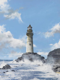 Robert G. Radcliffe - Lighthouse on the Rocks