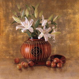 Sherry Loehr - Rice Basket and Plums