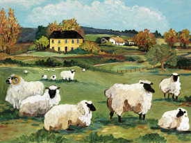 Suzanne Etienne - Lambs on Green Hill