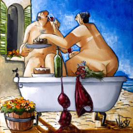 Ronald West - Couple Bathing