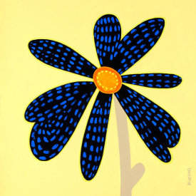 Monica Kuchta - Wow Flower Black and Blue