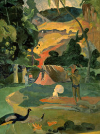 Paul Gauguin - Landscape with Peacock