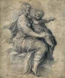 F. Parmigianino - Madonna & Child On The Clouds