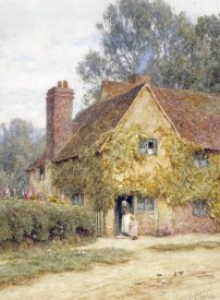 Helen Allingham - A Cottage at Denham, Buckinghamshire