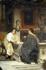 Sir Lawrence Alma-Tadema - The Discourse; a Chat