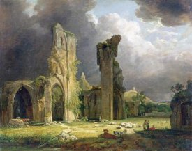 George Arnald - Glastonbury Abbey With The Tor Beyond