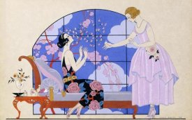 Georges Barbier - Two Ladies In a Salon