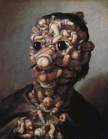 Faustino Bocchi - A Head Formed Out of Pygmies