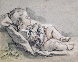 Francois Boucher - A Sleeping Baby