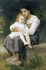 William-Adolphe Bouguereau - The Eldest Sister. La Soeur Aine