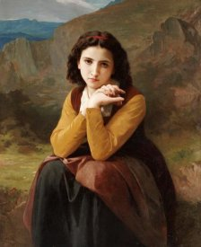 William-Adolphe Bouguereau - Reflective Beauty. Mignon Pensive