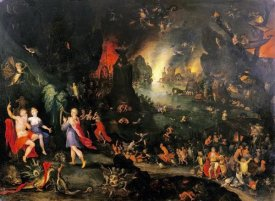 Jan Brueghel the Younger - Orpheus Playing To Pluto and Persephone In The Underworld