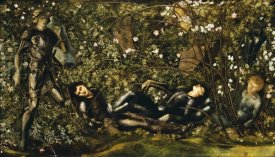 Sir Edward Burne-Jones - The Prince Entering The Briar Wood