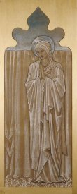Sir Edward Burne-Jones - The Virgin Mary: a Cartoon For Stained Glass