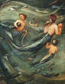 Sir Edward Burne-Jones - Mermaids In The Deep