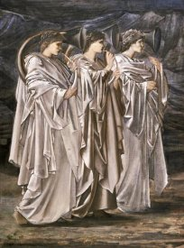 Sir Edward Burne-Jones - The Challenge In The Wilderness