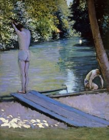 Gustave Caillebotte - Bather About To Plunge Into The River Lyrres