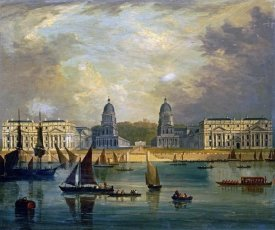 Frederick Calvert - A View of Greenwich, From The River