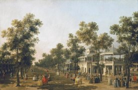 Giovanni Antonio Canal - View of The Grand Walk, Vauxhall Gardens