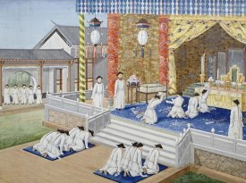 Chinese School - Scenes From Imperial Court Life. 19th Century
