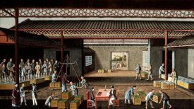 Chinese School - Various Stages In The Manufacture and Selling of Tea
