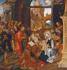 Jakob Van Amsterdam Cornelisz - Adoration of The Kings