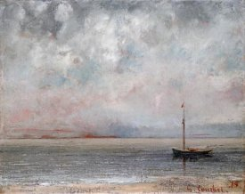 Gustave Courbet - Clouds On Lake Leman