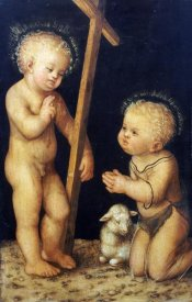 Lucas Cranach - The Christ Child Blessing The Infant Saint John The Baptist
