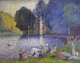 Henri Edmond Cross - The Lake In The Bois De Boulogne