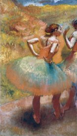 Edgar Degas - Two Dancers In Green Skirts