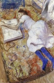 Edgar Degas - A Young Girl Stretched Out and Looking at An Album