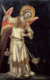 Guariento Di Arpo - An Angel Protecting a Soul In The Balance From The Devil